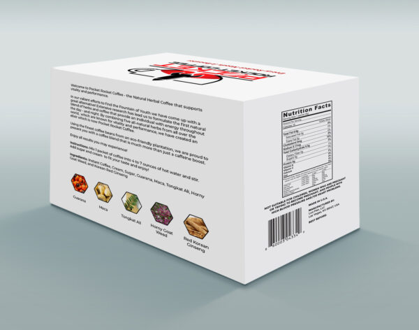 Pocket Rocket Coffee back Box 30-days of male vitality and performance