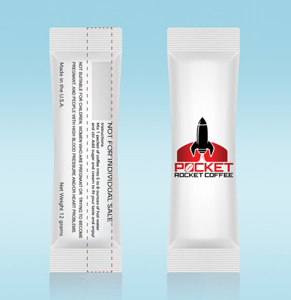 Pocket Rocket Coffee Sachet 3D-Coffee for lovers-Male ED-better sex-get it up